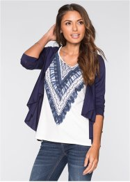 2in1-shirt, BODYFLIRT, donkerblauw gedessineerd