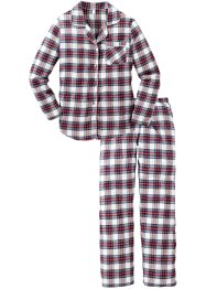 Flanellen pyjama, bpc bonprix collection, geruit