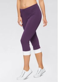 Caprilegging, bpc bonprix collection, zwart/aqua