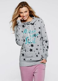 Sweatshirt, bpc bonprix collection, lichtgrijs gemêleerd sterretjes