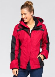 3in1-outdoorjack, bpc bonprix collection, rood/zwart