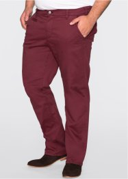 Stretchbroek slim fit straight, bpc bonprix collection, bordeaux