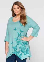 Shirt, bpc bonprix collection, aqua pastel met print