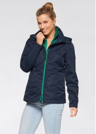3in1-outdoorjack, bpc bonprix collection, donkerblauw/jadegroen