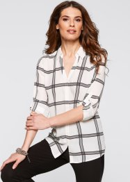 Blouse, bpc selection, wit/zwart geruit
