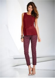 Broek, BODYFLIRT, bordeaux gedessineerd