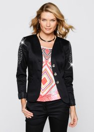 Stretchblazer, bpc selection, zwart