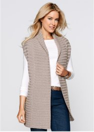Gilet, bpc bonprix collection, lichtgrijs gemêleerd