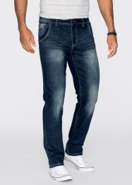 Stretchjeans regular fit straight, John Baner JEANSWEAR, donkerblauw used