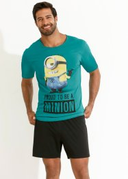 Shorty «Minions», bpc bonprix collection, blauwgroen met print