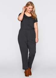 Jumpsuit, bpc bonprix collection, antraciet gemêleerd