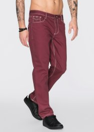 Jeans regular fit straight, RAINBOW, bordeaux