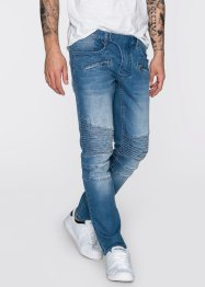 Stretchjeans slim fit straight, RAINBOW, medium blue bleached used