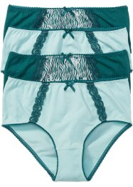 Maxislip (set van 4), bpc selection, aqua pastel gedessineerd