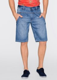 Jeansbermuda loose fit straight, John Baner JEANSWEAR, middenblauw used