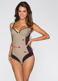 Corrigerende body, bpc bonprix collection, zwart/beige