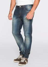 Jeans regular fit tapered, John Baner JEANSWEAR, dirty denim used