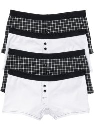 Boxershort (set van 4), bpc bonprix collection, zwart/wit gedessineerd