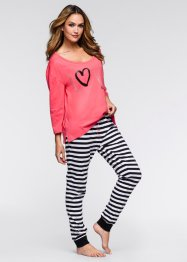 Pyjama, bpc bonprix collection, lichtpink gestreept