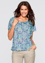 Blouse, bpc bonprix collection, aqua gedessineerd