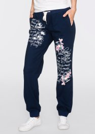 Sweatbroek, bpc bonprix collection, donkerblauw met print