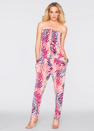 Jumpsuit, BODYFLIRT boutique, rood/wit gedessineerd
