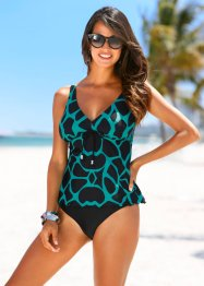 Tankini (2-dlg. set), bpc selection, zwart/turkoois