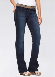 Stretchjeans+riem bootcut, John Baner JEANSWEAR, donkerblauw