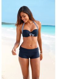 Beugelbikini (2-dlg. set), bpc bonprix collection, blauw/wit