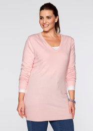 Longpullover, bpc bonprix collection, zacht roze