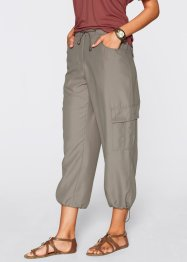 7/8-broek (set van 2), bpc bonprix collection, taupe/wit