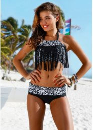 Bikini (2-dlg. set), RAINBOW, zwart/wit