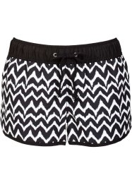 Strandshort, bpc bonprix collection, zwart/wit