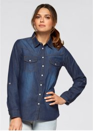 Jeansblouse, John Baner JEANSWEAR, dark denim used