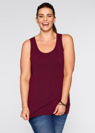 Tanktop (set van 2), bpc bonprix collection, ahornrood+wit