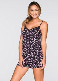 Shorty, bpc bonprix collection, zwart gebloemd