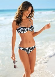 Bandeaubikini (2-dlg. set), bpc bonprix collection, zwart/wit