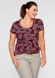 Shirt, bpc bonprix collection, ahornrood met print