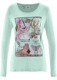 Longsleeve, bpc bonprix collection, pastelmint met print