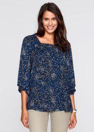 Tuniek, bpc bonprix collection, donkerblauw gedessineerd