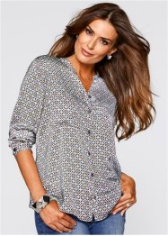 Blouse, bpc selection premium, ijsblauw gedessineerd