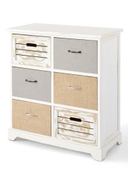 Commode «Kira», bpc living, wit/naturel