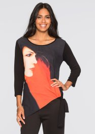 Shirt, BODYFLIRT, zwart gedessineerd