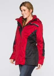 3in1-outdoorjas, bpc bonprix collection, rood/zwart