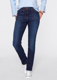 Stretchjeans hoge taille, bpc bonprix collection, dark denim