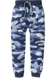 Sweatbroek loose fit, bpc bonprix collection, indigo/zilvergrijs gedessineerd