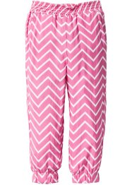 Broek, bpc bonprix collection, pink/wit gedessineerd