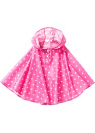 Regenponcho, bpc bonprix collection, flamingopink gedessineerd