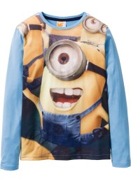 Longsleeve «MINIONS», Despicable Me 2, blauw met print