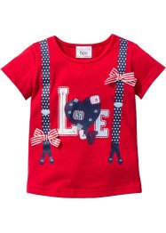 T-shirt, bpc bonprix collection, rood met print